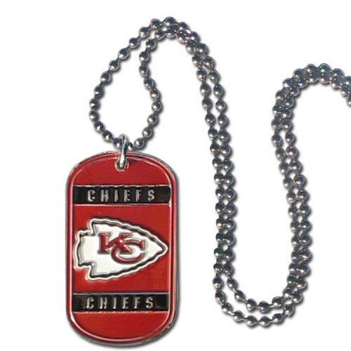 NFL Kansas City Chiefs Dog Tag Necklace ()