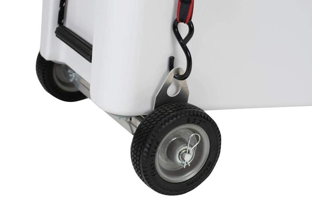 CoolerPro - Single Axle for Coolers, Adjustable Width for a Near-Universal Fit, Works with YETI Tundra 35-160 by BottlePro