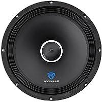 Rockville RXM104 10 600 Watt 4 Ohm SPL Car Midrange Mid-Bass Speaker w/ Bullet