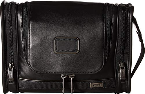 (TUMI - Alpha 3 Hanging Leather Travel Kit - Luggage Accessories Toiletry Bag for Men and Women - Black)