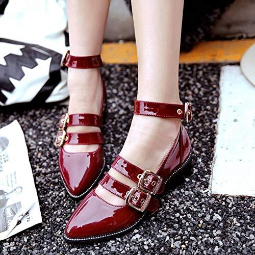 rouge en Chaussures pointues talons pour hauts à Kaizi Karzi femmes Hzqw851