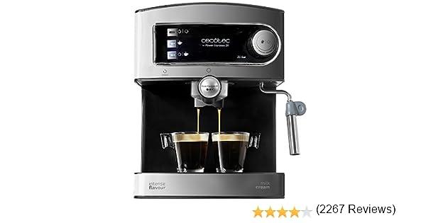 Cecotec Cafetera Espresso Power Espresso 20. Presión 20 ...