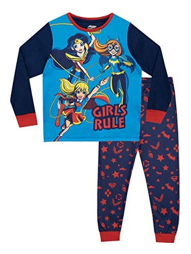 DC Comics Girls' DC Superhero Girls Pajamas Size 7 ()