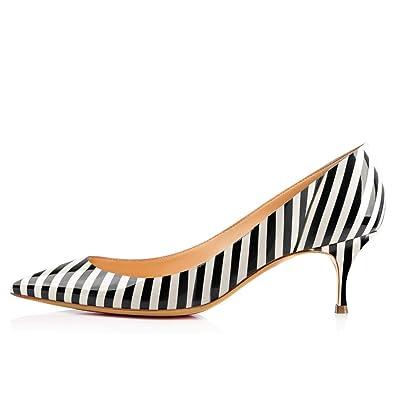 more photos d1826 a3497 Amazon.com   CAPAN Women's Kitten Heels 6cm Mid Heel Sandals ...