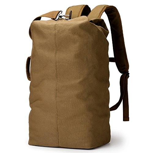 XINCADA Duffle Backpack Duffel Bag Canvas Backpack Gym Hiking Camping Travel Backpack Large Capacity