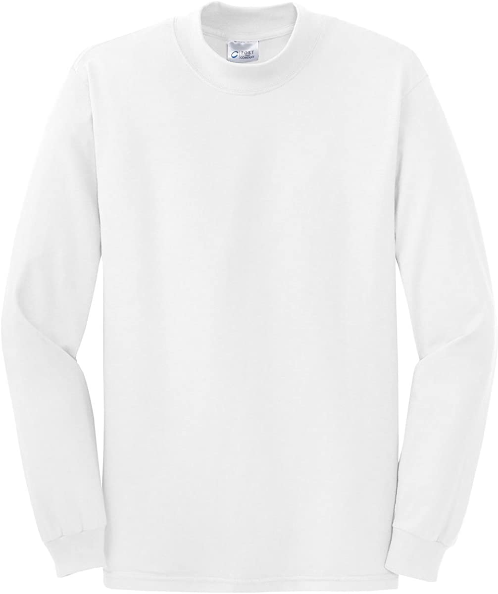 Port & Company Mock Turtleneck - PC61M at  Men's Clothing store: Pullover Sweaters