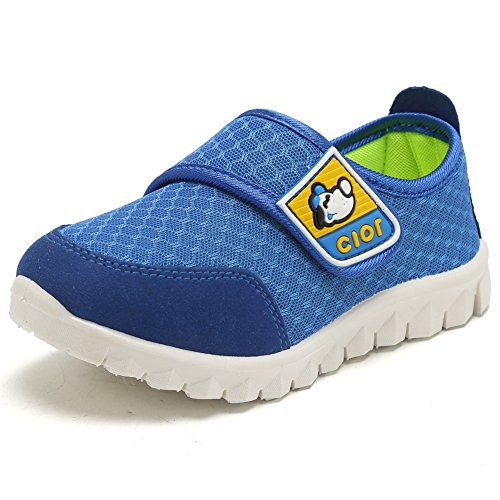 CIOR Kid's Mesh Lightweight Sneakers Baby Breathable Slip-On For Boy and Girl's Running Beach Shoes(Toddler/Little Kid) 12