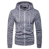 Hooded Sweatshirt BOOMJIU Mens Zipper Pocket Splicing Pullover Long Sleeve Tops Blouse