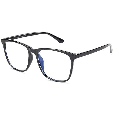 Livho Blue Light Blocking Glasses For Computer Use Anti Eyestrain Uv Filter Lens Lightweight Frame Eyeglasses Li1786 Bright Black C1 Amazon In Health Personal Care