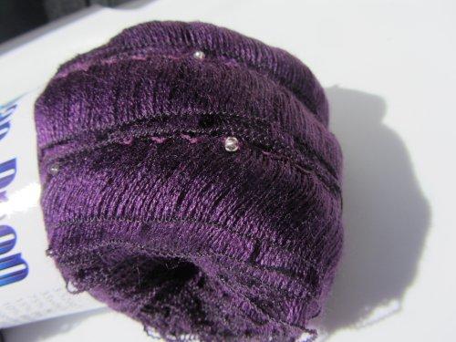 - KFI Tear Drop Ruffling Beaded Ribbon Yarn Color 9 Purple