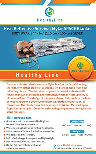 Healthyline Emergency Silver Mylar Thermal Foil Blanket Bundle 210 cm x 160 cm by HealthyLine (Image #2)