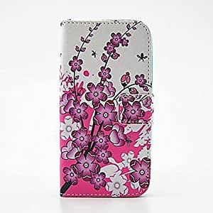 QHY Blooming Flowers Pattern PU Leather Full Body Case with Stand for Samsung S5Mini