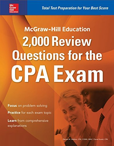 McGraw-Hill Education 2,000 Review Questions for the CPA Exam by Stefano Denise M. Surett Darrel (2015-12-25) Paperback