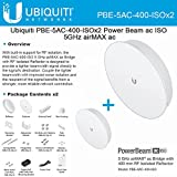 Ubiquiti PowerBeam AC ISO 5GHz 25dBi 400mm PBE-5AC-400-ISO RF Isolated (2PACK)