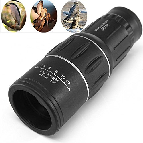 Long Range Monocular 16x52 Optics Zoom Lens Camping Hiking Hunting Telescope Scope Outdoor General Night Vision Travel Monocular ()