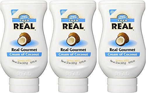 Coco Reàl, Cream of Coconut, 16.9 FL OZ Squeezable Bottle (Pack of 3) -