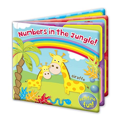 """""""First Steps"""" Numbers In The Jungle Baby Floating Bath Book Educational & Fun Bath Toy for Babies"""