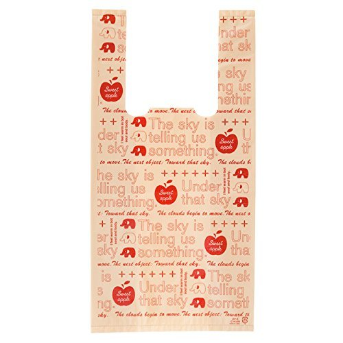 HEADS 手提げ袋 レジ袋 アップル ぞう-S (100枚) AP-S まとめ売り 60パック   B077M6XZD4
