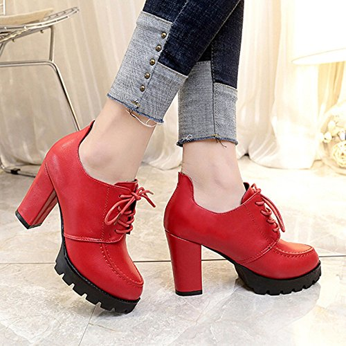 Heeled High Boots Toe Desert Cap Shoes Zipper Insoles Military Winter Lolittas Steel Red Riding Chukka Ankle Women Platform UqFFwpP
