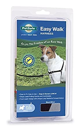 PetSafe Easy Walk Dog Harness, Small, Black/Silver by PetSafe ...