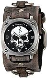 Nemesis Men's 926FRB Heavy Duty Skull Series Analog Display Japanese Quartz Grey Watch