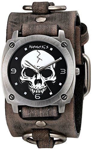 Nemesis Men's 926FRB Heavy Duty Skull Series Analog Display Japanese Quartz Grey ()