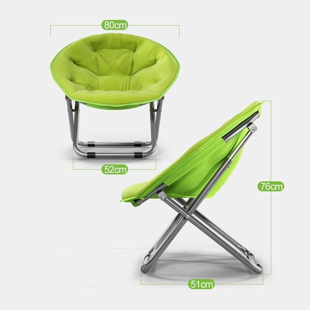 JJZXT Saucer Chair, Folding Sofa Saucer Chair with Metal Frame Floor Folding Gaming Sofa Chair Lounger Folding Couch Recliner (Color : B) B