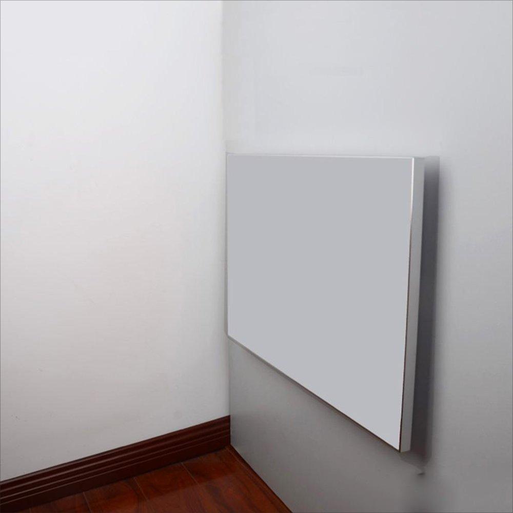 YNN 壁掛けダイニングテーブル、アルミニウム合金縁取り折りたたみ式壁テーブル、ラップトップテーブル、壁掛け型ドロップリーフテーブル (色 : 乳白色, サイズ さいず : 90*55CM) B07DS588VL 90*55CM|乳白色 乳白色 90*55CM