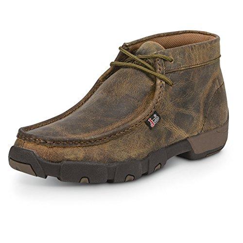 Justin Men's Casual Moc Toe Chukka Boots Dark - Chukkas Justin Mens