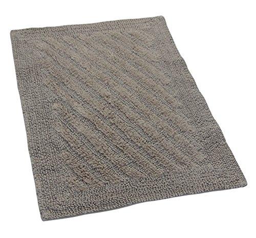 Colina del castillo de Londres alfombra Reversible con el lineal, 60,96 x 101,6 cm, piedra