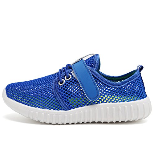CIOR Kids Casual Shoes Breathable Slip-on Sneakers For Running Pool Beach (Toddler / Little Kid) SC217 Blue 25 1