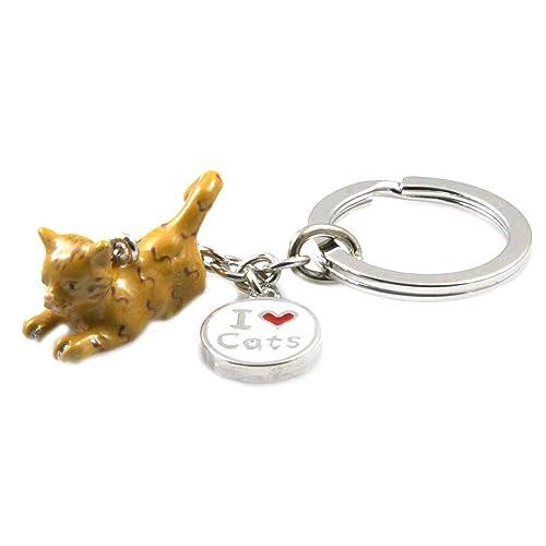 amorili Llavero de la Mujer con el Gato o Gatito de la Raza ...