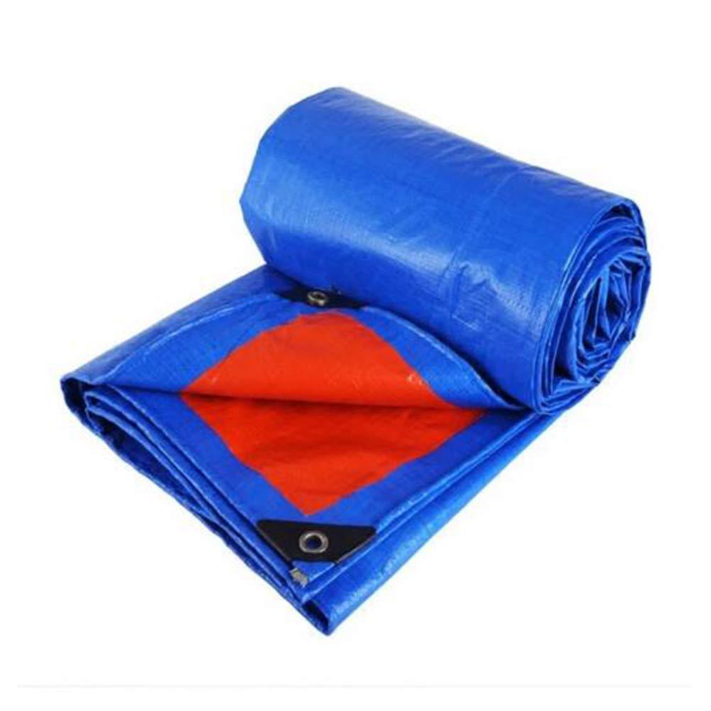 DALL ターポリン タープ 両面 防水 アウトドア 防雨布 天幕布 抗UV (色 : 青, サイズ さいず : 8×10m) 8×10m 青 B07L1GC2BG