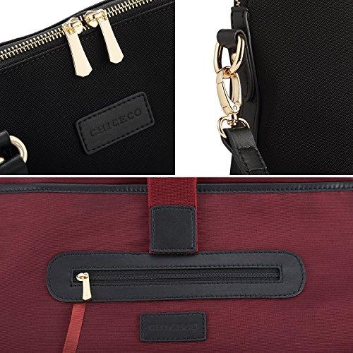 Bolso Libros Bag 13 Mujer nbsp;pulgadas Chiceco negro Satchel Arkknoafefhy 1 Archivos Portátiles Negro De Messenger Para xwWPI15qIF