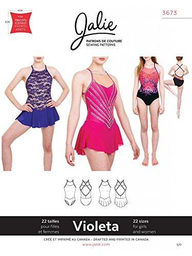 Sportswear Costume (Jalie 3673 Violeta Leotard and Dress Open Back Skating Costume Sewing Pattern)