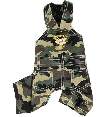 SELMAI Camo Pet Overalls Jumpsuit Costume for Small Dog Cat Puppy Doggie Pants Cotton Pet Police Costume Halloween Boy Male Cosplay Outfits Clothes XL ()