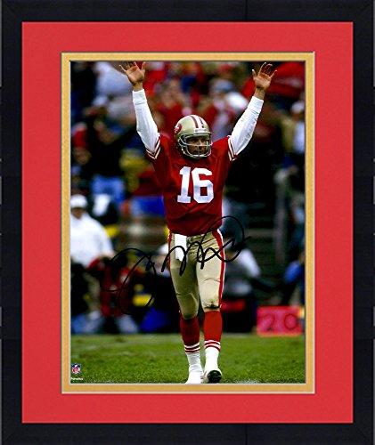 Framed Joe Montana San Francisco 49ers Autographed 8