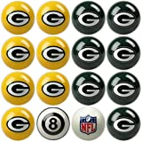 Imperial Officially Licensed NFL Merchandise: Home vs. Away Billiard/Pool Balls, Complete 16 Ball Set, Green Bay Packers