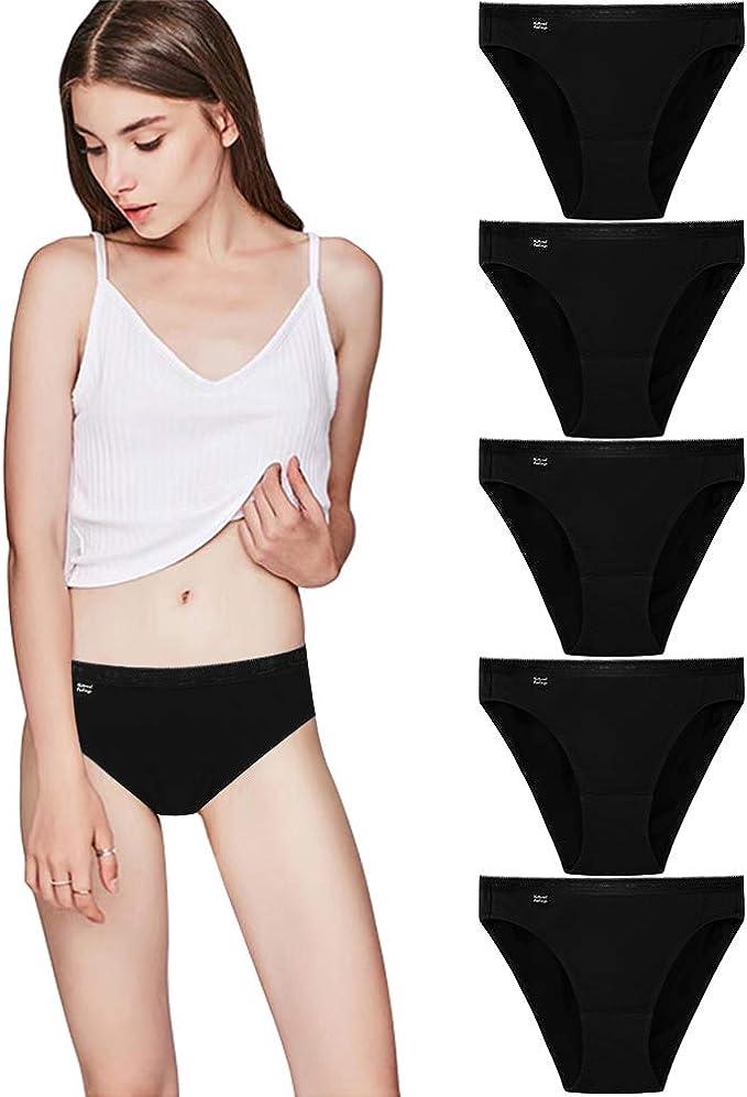 Lovemist - Bragas de bikini para mujer (algodón, talla 5/3/1): Amazon.es: Ropa y accesorios