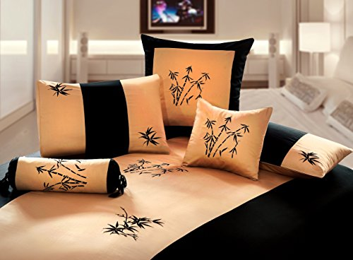 gold-and-black-queen-duvet-3-piece-full-cover-set-zen-garden-embroidered-oriental-bamboo-style-desig