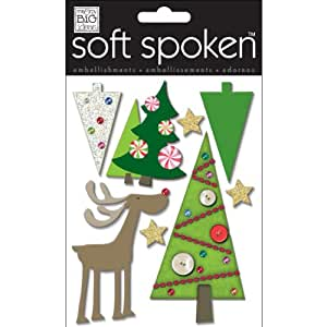 Soft Spoken Themed Embellishments-Merry Trees