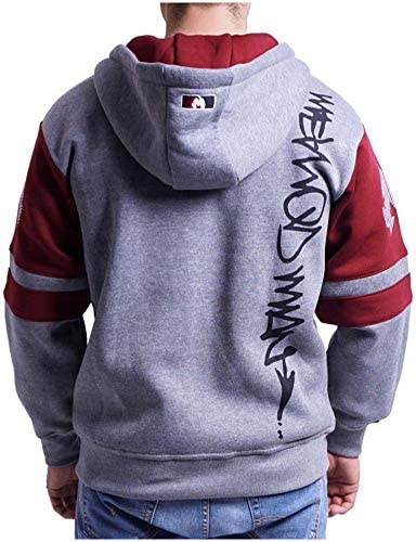 Wu-Wear Method Man Zip Zipper Grey Maroon Hoody Hoodie WU-Tang Clan WU Tang