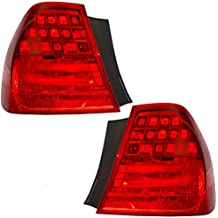 Pair Set Taillights Tail Lamps Quarter Panel Mounted Replacement for BMW 3 Series & M3 Sedan 63 21 7 289 429 63 21 7 289 430