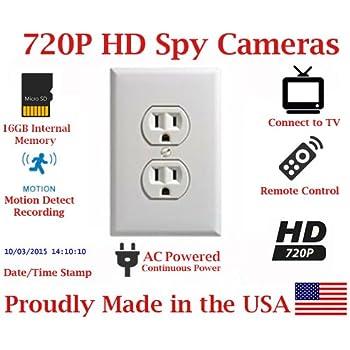 Power Outlet Spy Hidden Camera Recording DVR Wall Plug Nanny Cam Motion Detect