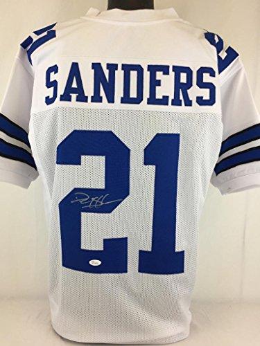 Deion Sanders Autographed Football (Deion Sanders signed autographed jersey Jsa coa Cowboys football)