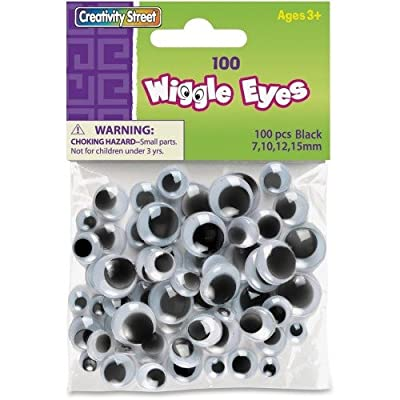 Watch them wiggle eyes, Black(500 PIECES) - BULK