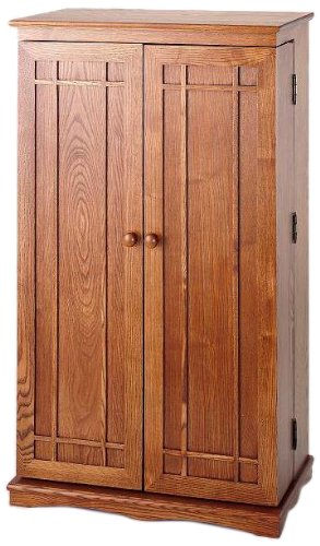 Beau LDE LESLIE DAME Leslie Dame CD 612D Solid Oak Multimedia Storage Cabinet  With Classic Mission