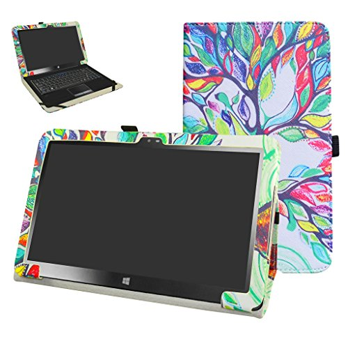 Insignia 11.6 NS-P11W7100 / NS-P11A8100 Case,Mama Mouth PU Leather Folio Stand Cover for 11.6 Insignia 11.6 NS-P11W7100 / NS-P11A8100 11.6 Inch Windows 10 Tablet PC,Love Tree