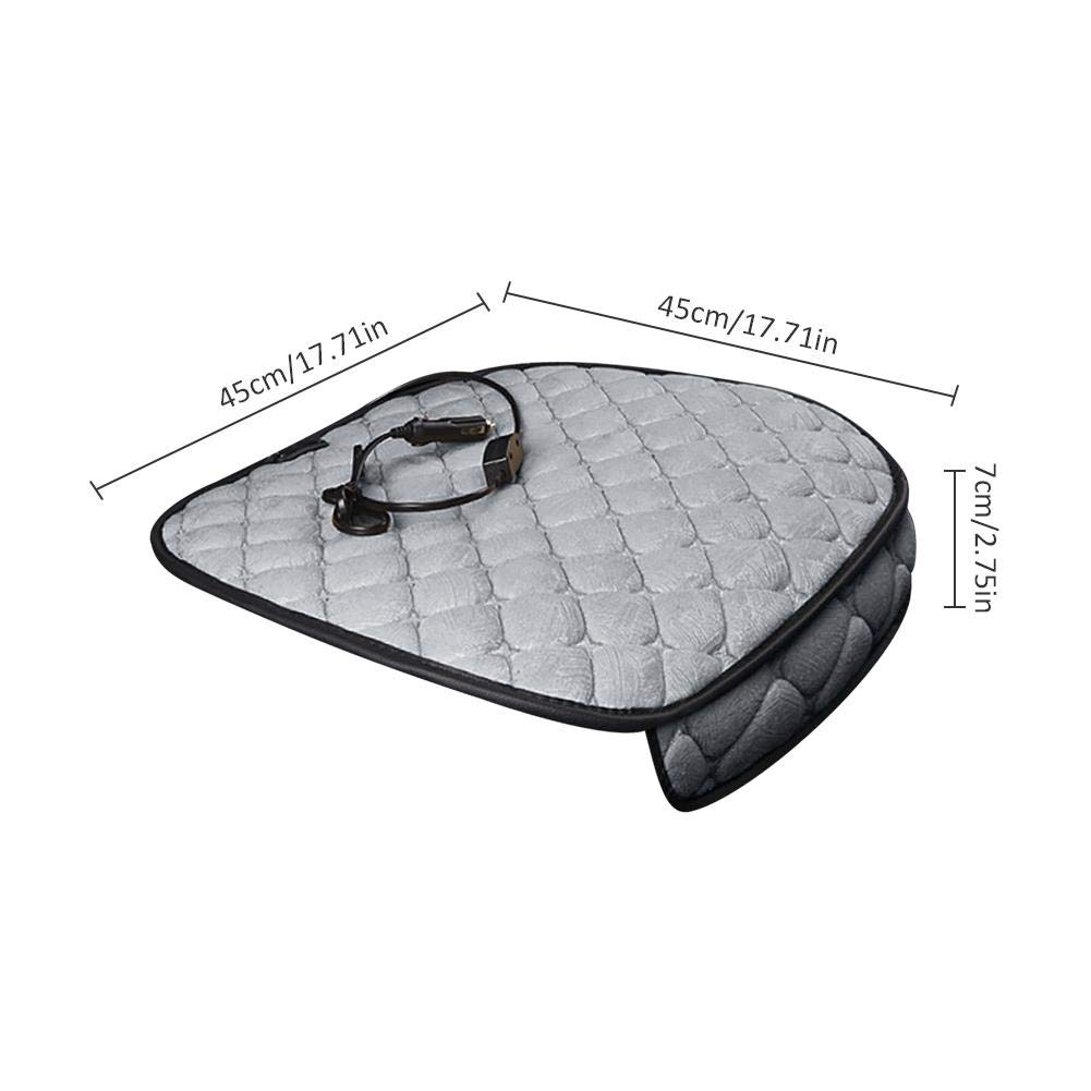 Younar 12V Car Heating Cushion,Winter Warmer Car Electric Heating Pad Mat