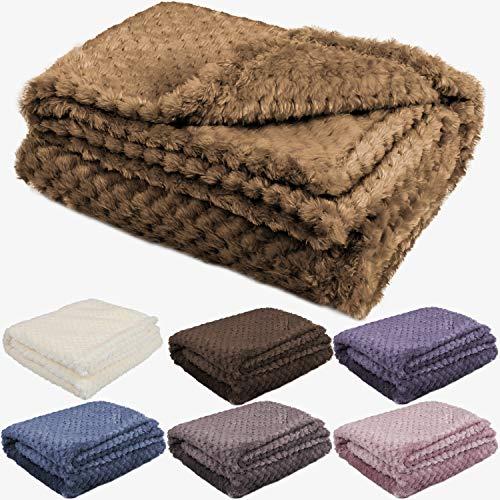Soft and Fluffy Toddler Blankets for Girls Boys, Unisex Warm Baby Blankets for Newborn Infants, Fuzzy Fleece Baby Blankets for Crib, Bedding, Stroller, Indoor, Outdoor(Khaki)